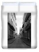 Old San Juan Puerto Rico Downtown On The Street Duvet Cover