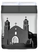 Old San Miguel Mission, Socorro, New Mexico, March 12, 2017 Duvet Cover