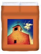 Old Santa Fe Church Duvet Cover
