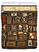 'old School' Cameras Duvet Cover