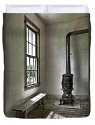 Old School House Stove Duvet Cover