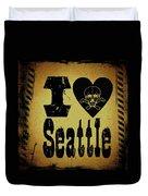 Old Seattle Duvet Cover