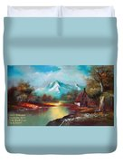Old Shed Close To A River H A Duvet Cover