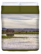 Old Shed On Marsh Duvet Cover