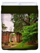 Old Sheldon Church Ruins 3 Duvet Cover