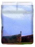 Old Sicilian Fishing Boats Duvet Cover