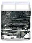 Old Stairs To Nowhere Duvet Cover