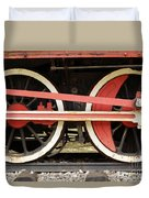 Old Steam Locomotive Iron Rusty Wheels Duvet Cover