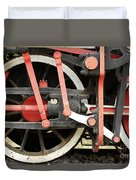 Old Steam Locomotive Wheels Duvet Cover
