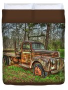 Old Still Art 1947 Ford Stakebed Pickup Truck Ar Duvet Cover