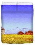 Old Stone Farmhouse Tuscany Duvet Cover