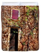 Old Stone House In Provence Duvet Cover
