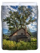 Old Stone Ranch Structure Duvet Cover