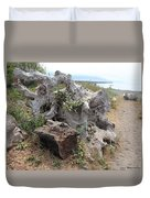 Old Stump At Gold Beach Oregon 5 Duvet Cover