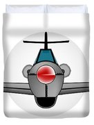 Old Style Fighter Aircraft Duvet Cover