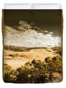 Old Summer Hills Duvet Cover