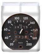 Old Tachometer Duvet Cover