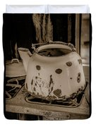 Old Tea Kettle In A Miner's Cabin Duvet Cover