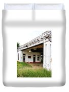 Old Texas Gas Station Duvet Cover