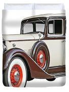 Old Time Auto Duvet Cover