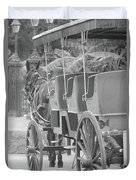 Old Time Horse And Buggy Duvet Cover