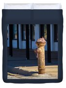 Old Time Hydrant Duvet Cover