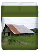 Old Tin Roof Barn Washington State Duvet Cover