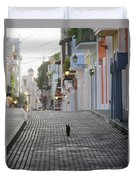 Old Town Alley Cat Duvet Cover