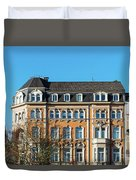 old Town buildings in Aachen, Germany Duvet Cover