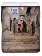 Old Town Entrance Duvet Cover