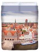Old Town Gdansk Duvet Cover