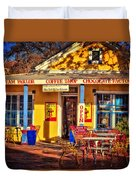 Old Town Ice Cream Parlor Duvet Cover