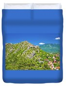 Old Town Knin On The Rock View Duvet Cover