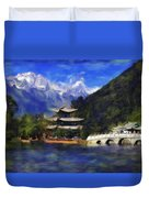 Old Town Of Lijiang Duvet Cover