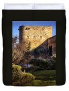 Old Town Walls Toledo Spain Duvet Cover by Joan Carroll