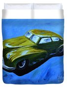 Old Toy Car Duvet Cover