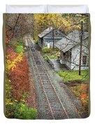 Old Train Station Norwich Vermont Duvet Cover