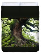 Old Tree In Kyoto Duvet Cover