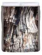 Old Tree Stump Tree Without Bark Duvet Cover