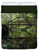 Old Trestle Bridge Duvet Cover