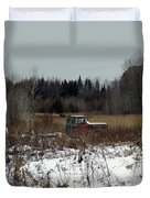 Old Truck And A Moose Duvet Cover