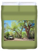 Old Truck At Abiquiu Duvet Cover