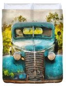 Old Truck At The Winery Duvet Cover