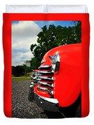 Old Truck Grille Duvet Cover
