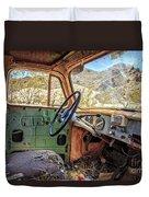 Old Truck Interior Nevada Desert Duvet Cover