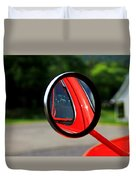 Old Truck Mirror Reflection Duvet Cover