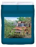 Old Truck Rusting Duvet Cover