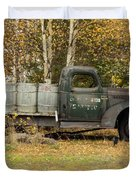 Old Truck With Potato Barrels Duvet Cover