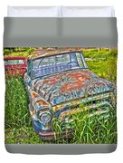 001 - Old Trucks Duvet Cover