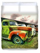 Old Trucks In A Row Duvet Cover